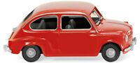 WIKING  0099 04 Fiat 600 anno 1956 colore ROSSO H0 1/87