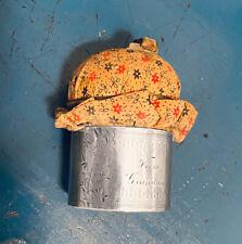 "1878 ""From Grandma"" Gorham? Sterling Napkin Ring -> Pincushion Antique Victorian"