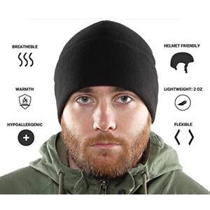 Black Military Tactical Skull Cap Winter Warm Fleece Windproof Ski Beanie Hats