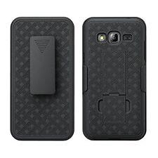 For Samsung Galaxy J3V Verizon Shell Holster Black Combo Case Galaxy J3 V 2016