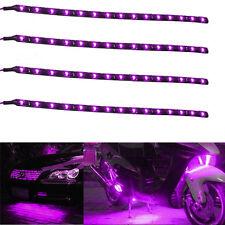 4x Purple 30Cm 15SMD LED Motorcycle Waterproof Flexible Strip Light For Honda