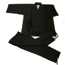 Japanese Kimono Samue Hemp For Men Black M Size