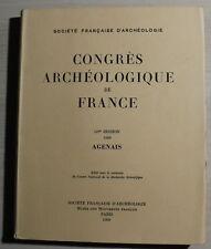 Congrès Archéologique de France - AGENAIS 1969