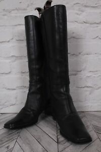 ESINO Trickers Riding Length Boot BLACK LEATHER BUCKLE Over Knee High 6 39