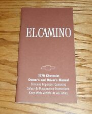 1979 Chevrolet El Camino Owners Operators Manual 79 Chevy