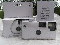 10 PLAIN WHITE COLOR FILM DISPOSABLE WEDDING CAMERAS party Favors 35mm 27exp