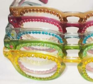 READING GLASSES 5 PAIR LOT READERS 2 COLOR/TONE BEAUTIES 4.00 STRENGTH FREE SHIP