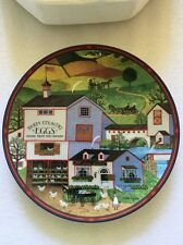 Virginia's Market Decorative Plate #4 Charles Wysocki's Peppercricket Grove