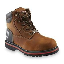 Craftsman Men's Laramie Brown Leather Steel Toe Work Boot Oil Slip Resistant