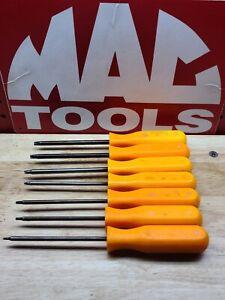 MAC Tools USA STTP Series 7 Piece Orange T8-T30 Tamper Torx Screwdriver Set