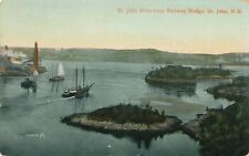 SAINT JOHN NB – St. John River from Railway Bridge - 1910