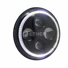 """2x7"""" Round LED Headlight hi/lo beam Halo For Jeep Wrangler JK LJ TJ FJ hummer H1"""