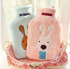 2000ml HOT WATER BOTTLE Winter Warm Rubber Bag w Knitted Cover Relaxing Warmer