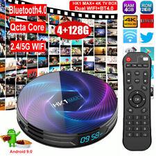 HK1 MAX+ 4+128G Qcta Core Android 9.0 Smart TV BOX 5G WIFI BT4.0 3D Media Player