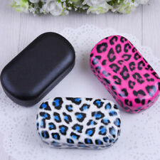 Leopard Print Contact Lenses Box Lens Case Care Travel Kit Holder Container LD
