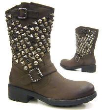 Wadenhohe Stiefel aus Kunstleder in Größe 40