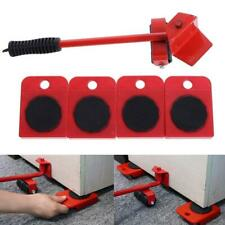 5Pcs Furniture Mover Lifter Easy Slides Transport Lifting Heavy Hand Tool Set