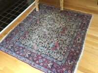 Antique Vintage Hand Knotted/woven worn wool Oriental/Persian area rug