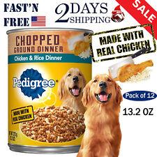 PEDIGREE Adult Canned Wet Dog Food Dog Treat Dinner Chicken & Rice 13.2 OZ