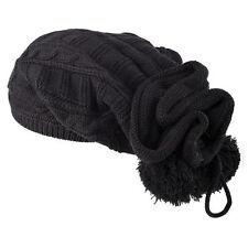 Cappelli da donna neri in misto cotone