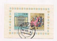 DDR - Briefmarken - Block 85 - Gestempelt