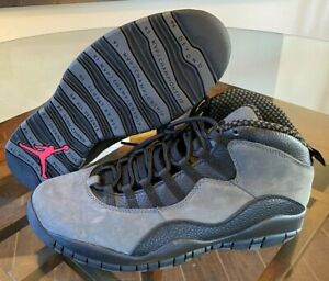 Air Jordan 10 Retro Dark Shadow Grey True Red Black 310805-002 Men's Size 11