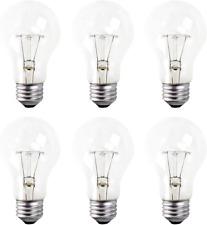 A19 Clear Incandescent Rough Service Light Bulb, 100 Watt, 2700K Soft White, E26