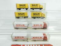 BD338-0,5# 4x Wiking H0/1:87 Lastzug Mercedes/MB: 459 Kolb+459/1 Baur, NEUW+OVP