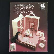 Plastic Canvas Fashion Doll Travel Trunk Annies Attic 87D64 Vtg 1992 Accessories