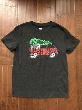 Old Navy Christmas Shirt Kids Youth Size Small 6-7 Dashing through the Snow EUC