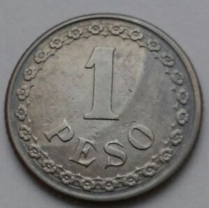 Paraguay 1 Peso 1925. KM#13. One Dollar coin. One Year Issue only.