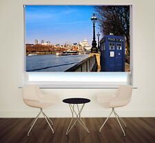 Police Call Box in London Dr Who Phone Box Printed photo Roller Blind any size