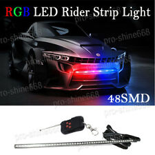 "22"" 7-Color RGB LED Knight Rider Strip Light Under Hood Behind Grille For Acura"