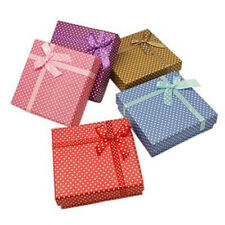 12PCS Cardboard Jewelry Set Boxes Square Sponge Mixed Color 9x9x3cm For Gift
