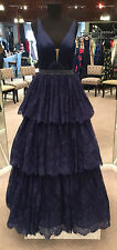 Sherri Hill 50844 Pageant, Prom Dress, Formal Occasion Gown (Navy, Size 6)