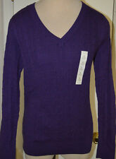 Women's Sonoma Crown Jewel Purple Long Sleeve V-Neck Top Size Medium