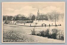 Ice Skating Pond—Amherst MA Rare Antique HOCKEY Hampshire County 1910s