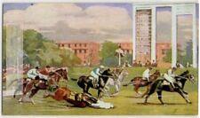 A Fall Becher's Brook Jump Grand National Horse Racing Sport 1930s Trade Card