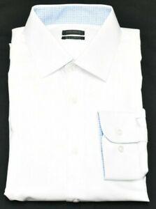 Buffalo David Bitton Dress Shirt Men Sz XL 17-17.5 34/35 Slim Stretch White Q643