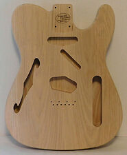 Unfinished Telecaster F Hole Style semi-hollow body Ash