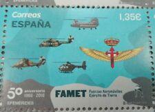 50 aniversario fuerzas aeromóviles.FAMET.Ejército de Tierra.Sello/Stamp España