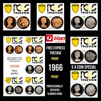 1966 Australia 5 x Proof Coin Set PCGS Graded PR69DCAM Rare 1c, 2c, 5c,10c & 20c