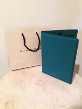$425 NEW BURBERRY  Leather Miniconiston IPad Cover Case Tablet Mineral Green