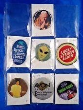Lot of 7 Pins Pinbacks Buttons Pope John Paul III Michael Jackson Avon Jewelry