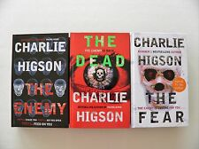 CHARLIE HIGSON - THE ENEMY/THE DEAD/THE FEAR (Signed) - 1ST EDITIONS - HB - EXC