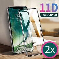 2x 11D Schutzglas für Apple iPhone X / XS / 11 PRO Schutzfolie Echt Glas Folie