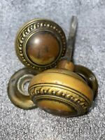 ANTIQUE Pair Of Botniah Yale & Towne Door Knobs With Rosettes