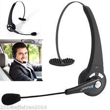 Wireless Bluetooth Handsfree Boom Mic Headset Headphone Over-the-Head Fr Trucker