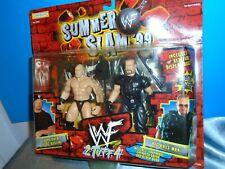 "JAKKS PACIFIC SUMMER SLAM ""2 TUFF 4"" WWF 1999  STEVE AUSTIN & BIG BOSS MAN"