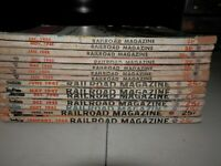 Vintage copies of RAILROAD MAGAZINE 14 total 1944-45-47-48-50, sold as a lot